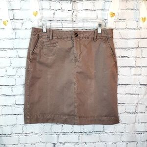 Old Navy Tan Mini Skirt